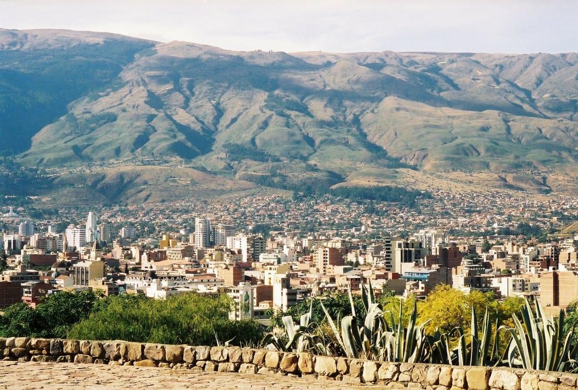 Cochabamba, cidade co Cristo de la Concordia, Bolívia.