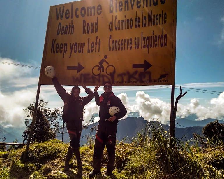 Caminho da morte, famosa estrada na Bolívia.