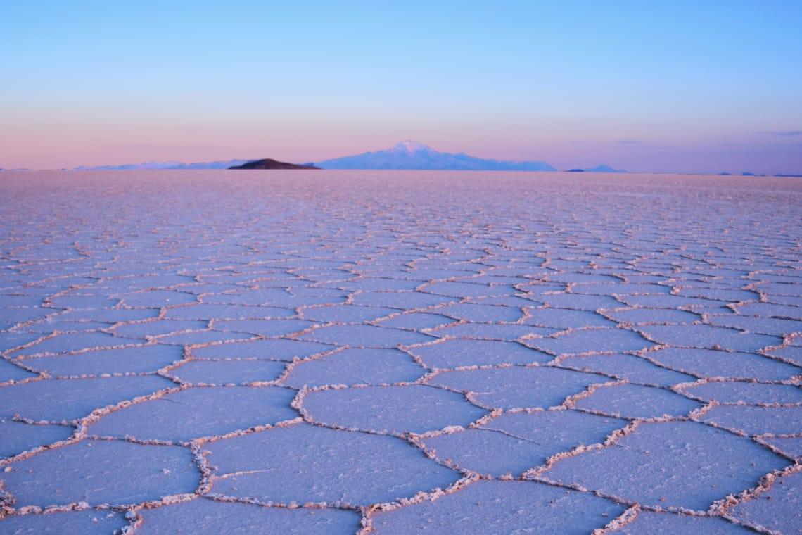 Salar de Uyuni, deserto de sal, Bolívia.