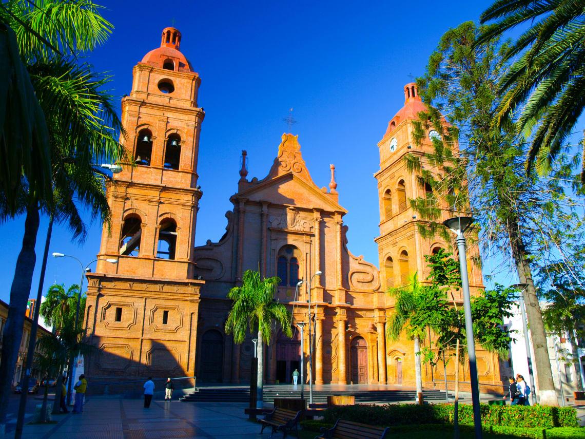 Praça central de Santa Cruz de la Sierra