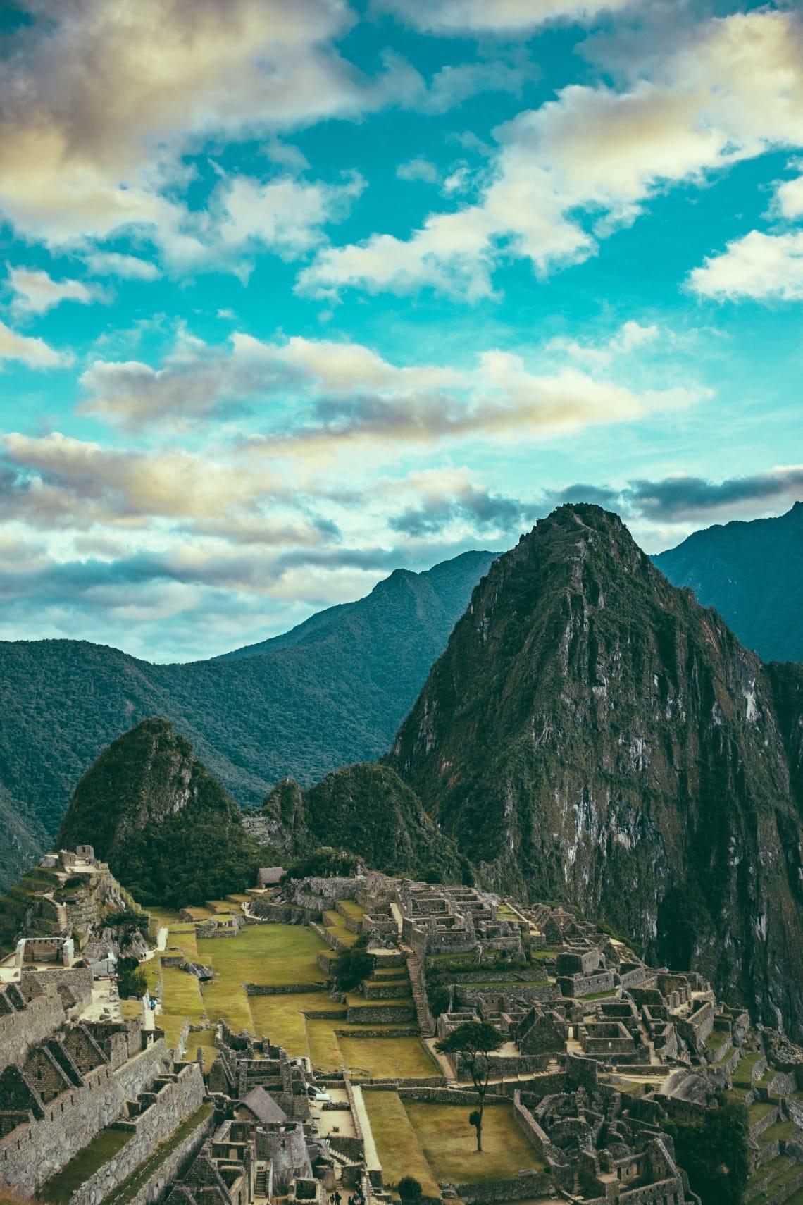 As ruínas de Machu Picchu, no Peru