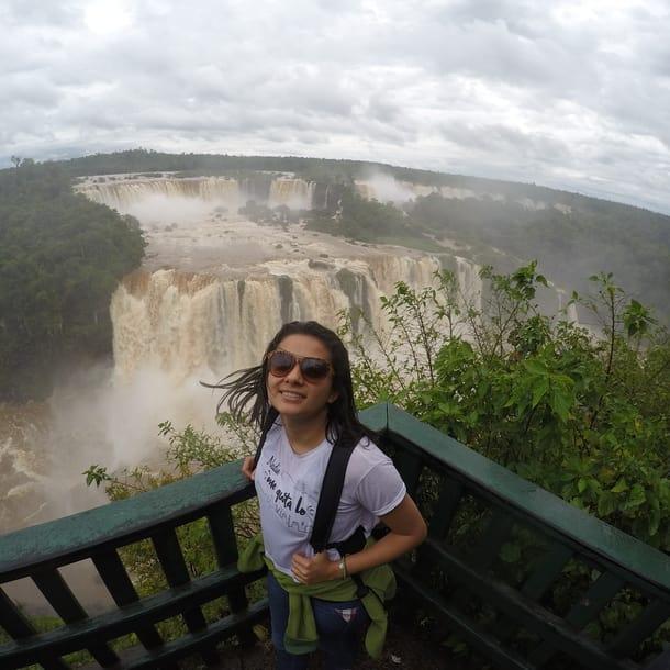 viajar y trabajar por Sudamérica - Worldpackers - lina maestre en Iguazú