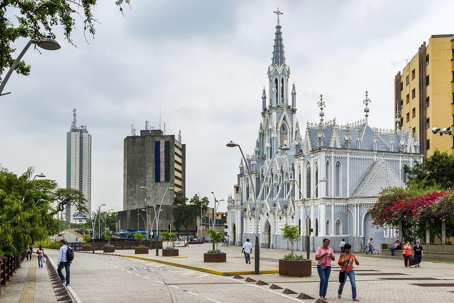 Praça central de Cali, Colômbia