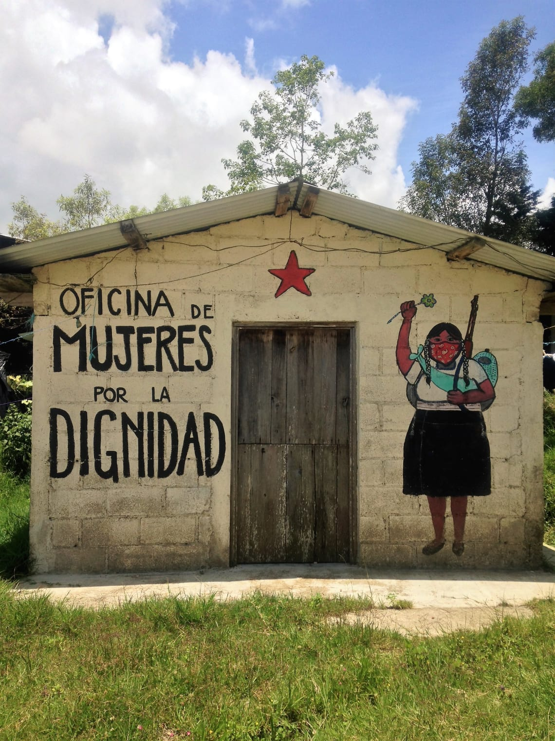 Mural de um caracol Zapatista, Chiapas, México