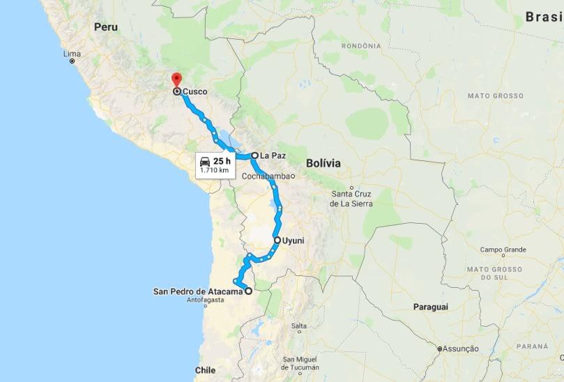 Ruta de mochilón por Chile, Bolivia y Perú