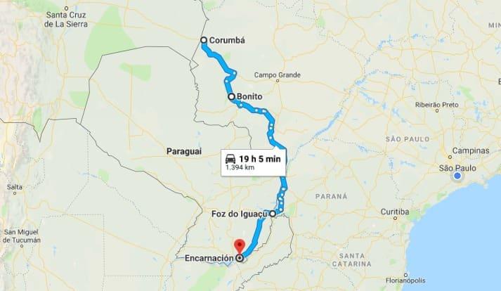 Ruta aventura para Foz do Iguaçú y Pantanal