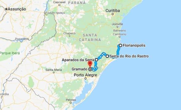 Ruta de mochilón por la región sur de Brasil