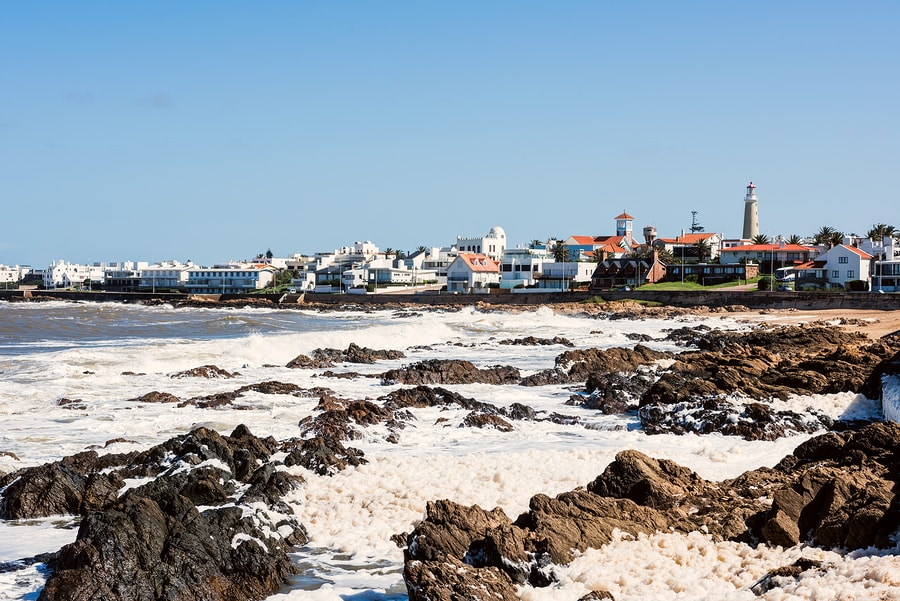 Parte do balneário de Punta del Este, Uruguai