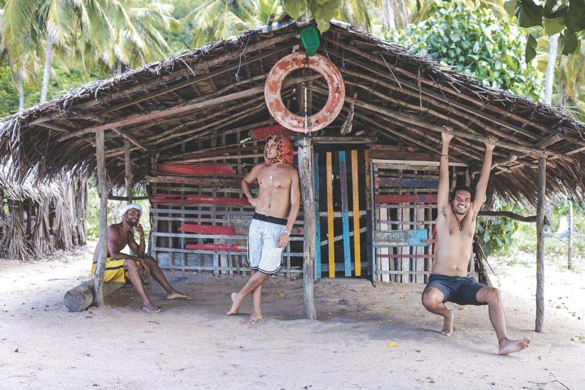 Folga do voluntariado em Natal, visitando Baía Formosa com o Cadu e o Murilo(voluntário worldpacker que conhecemos em Maragogi).