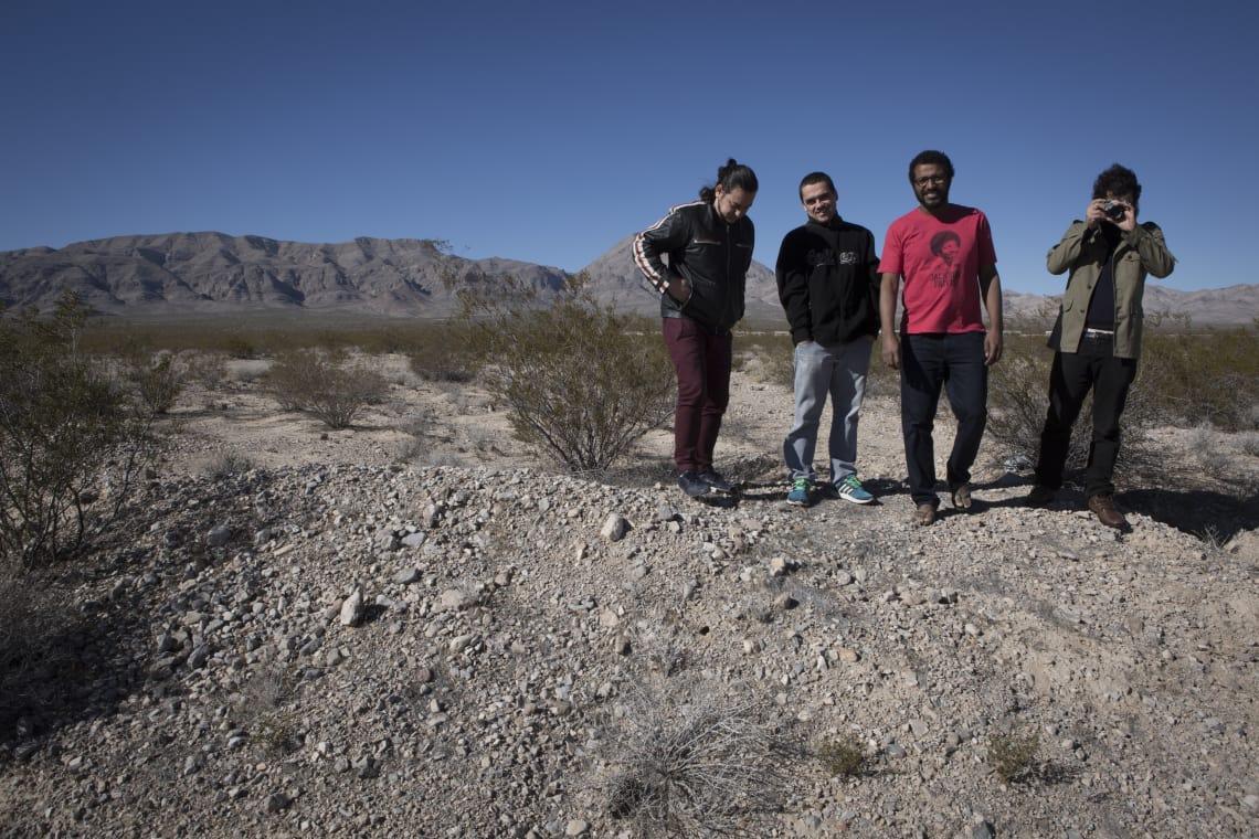 Integrantes da banda Vitrola Sintética