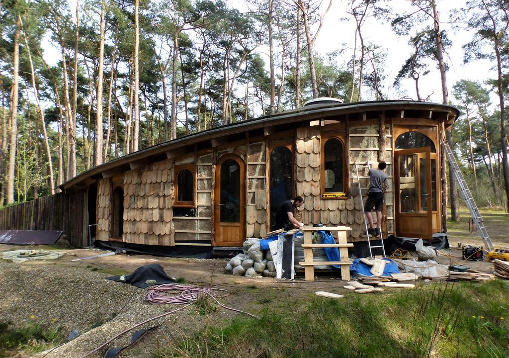 Projeto de um espaço de acolhimento em construção na Bélgica