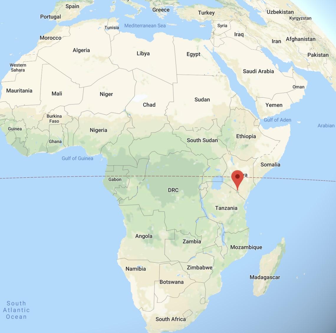 Kilimanjaro mapa