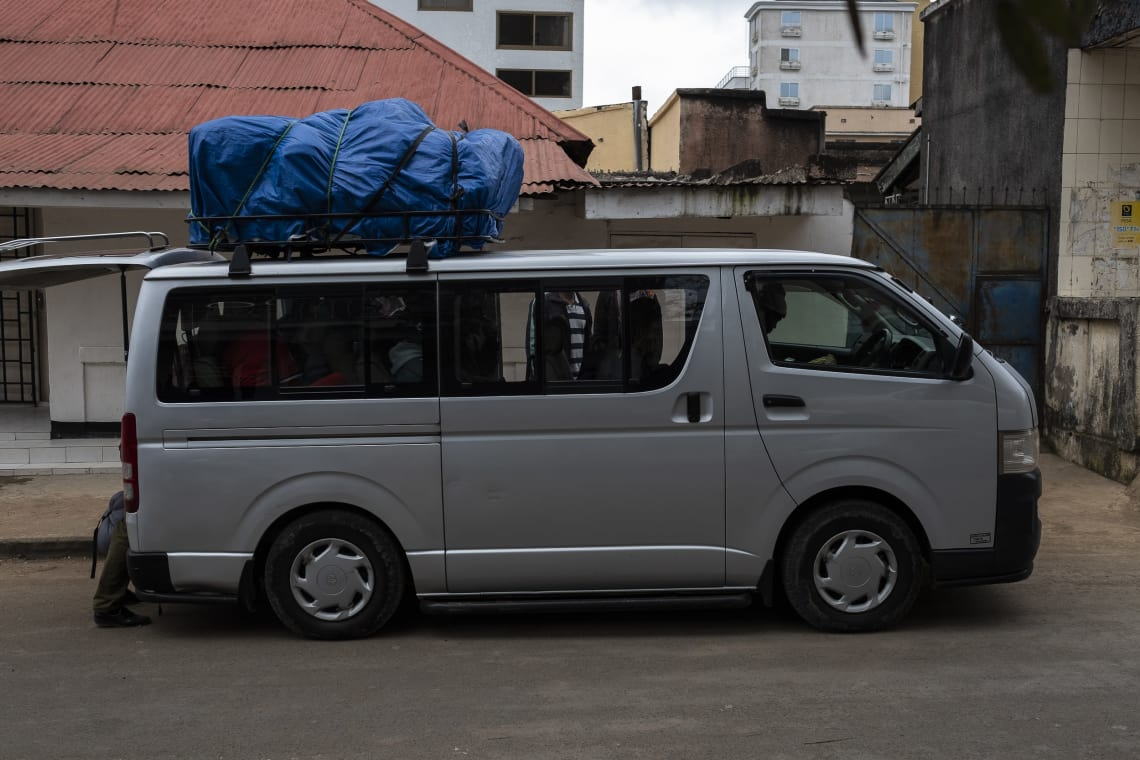 Vehículo de transporte, desde Arusha al Parque Nacional Kilimanjaro.