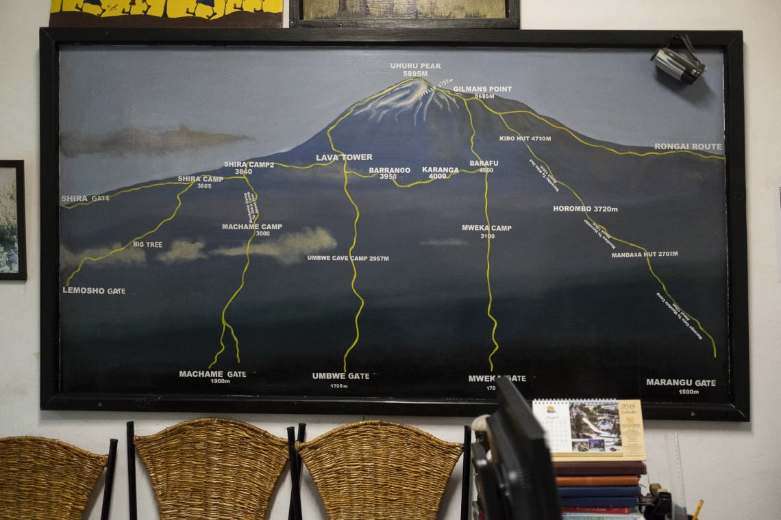 Kilimanjaro: hacer el trekking más alto de África - Worldpackers - mapa que muestra como es el kilimanjaro