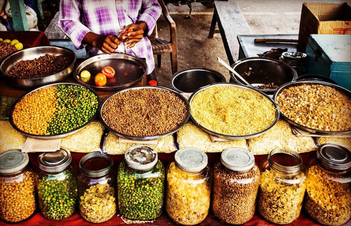 Colorful street food.