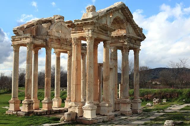 Ruínas de um templo romano