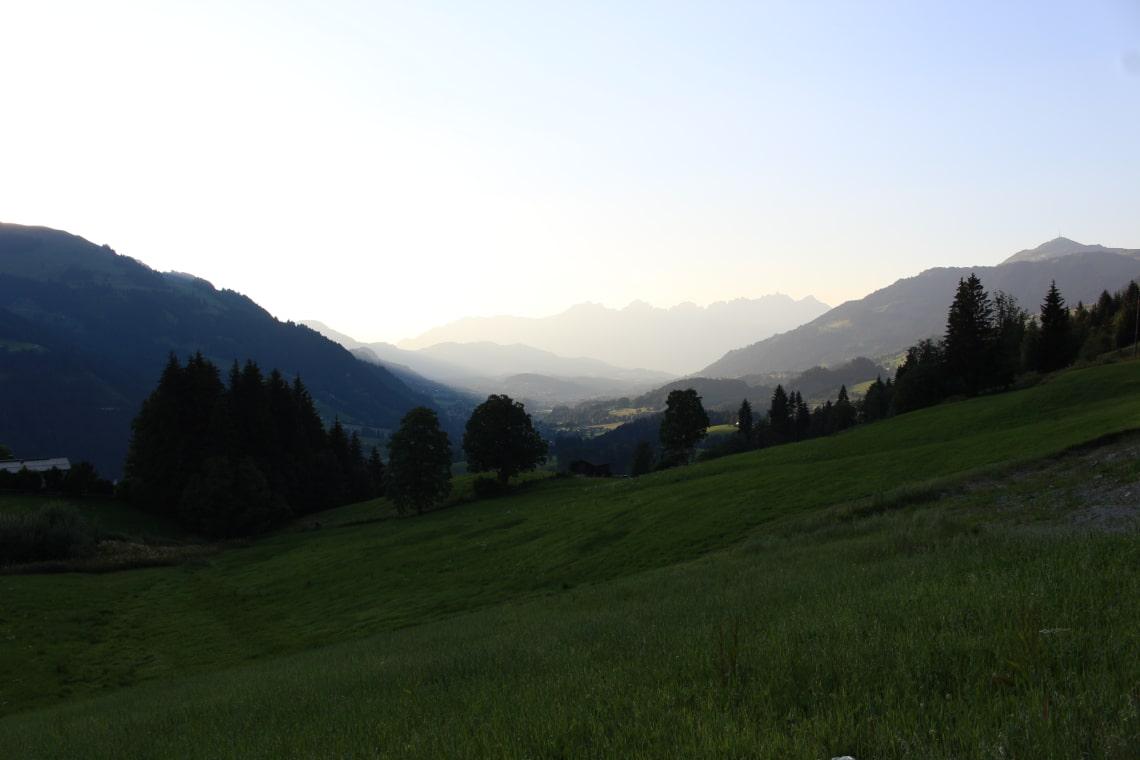 Montanha emAurach bei Kitzbühel, Áustria
