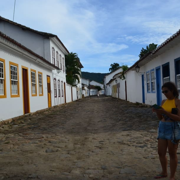 Camila durante sua viagem para Paraty