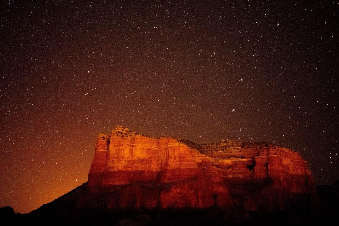Stargazing in Sedona, AZ, USA