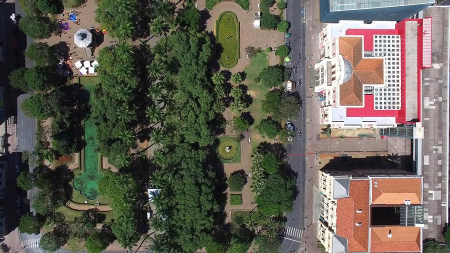 Vista aérea da Praça da LIberdade