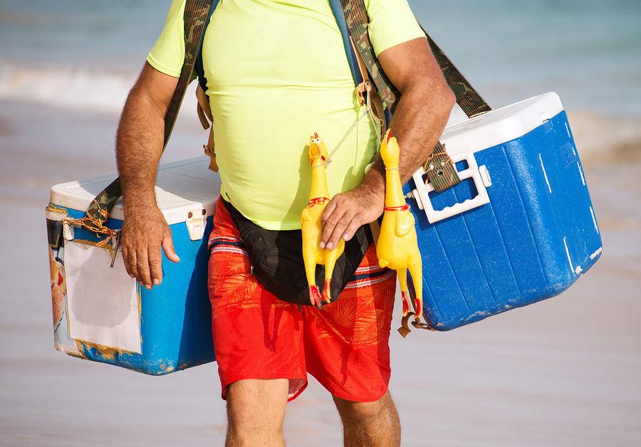 Vendedor de comida na praia