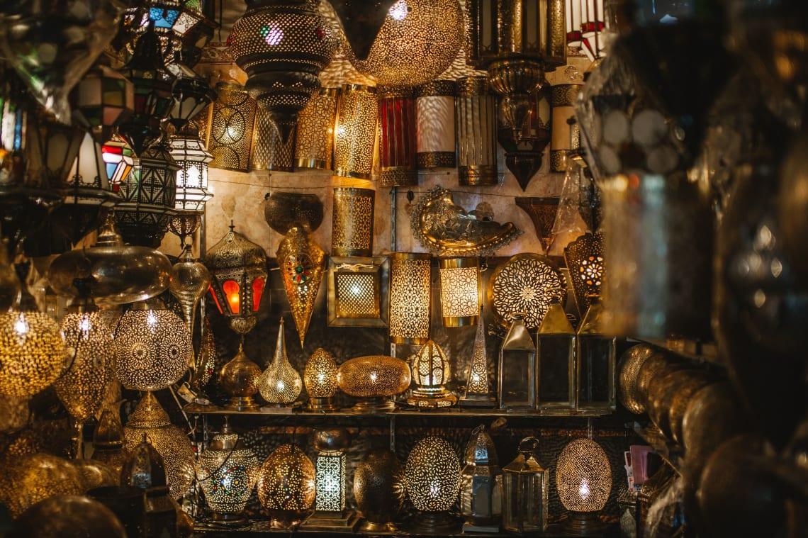 Lamps, Marrakech, Morocco
