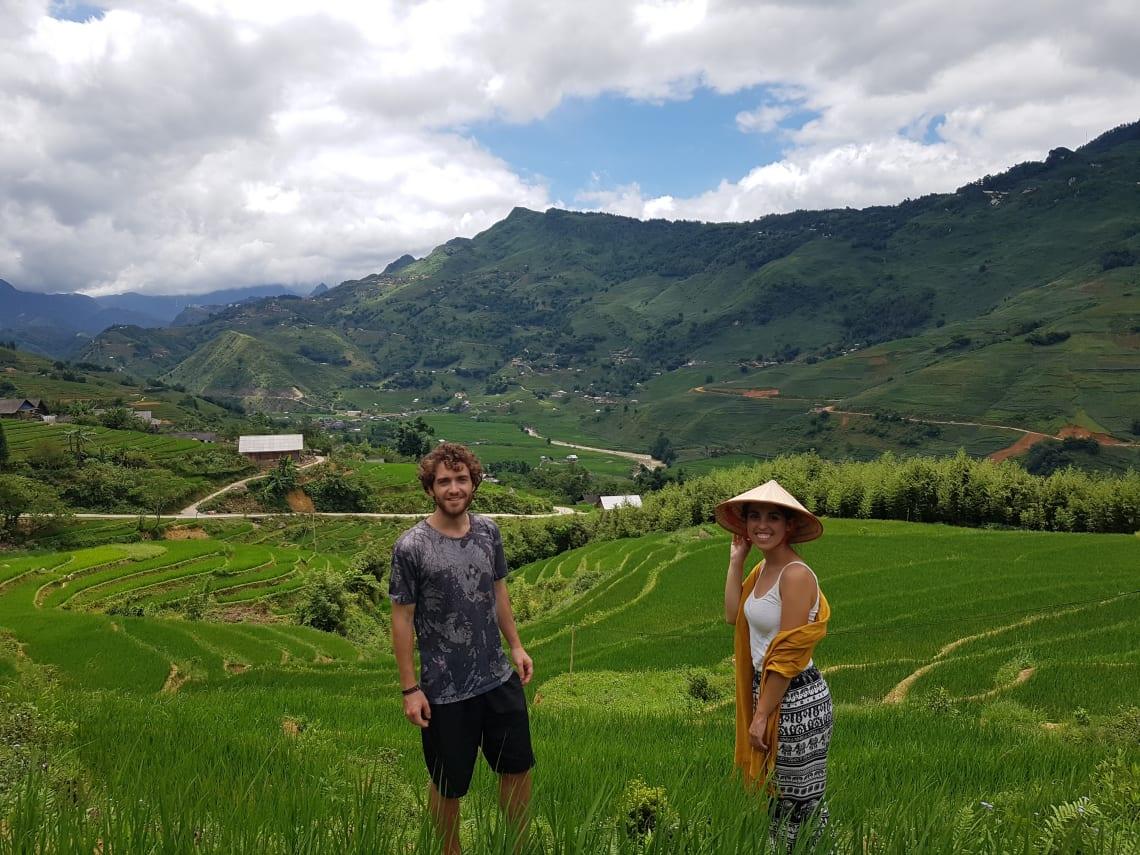 Cómo viajar a Asia con poco dinero - Worldpackers- campos de arroz en Vietnam