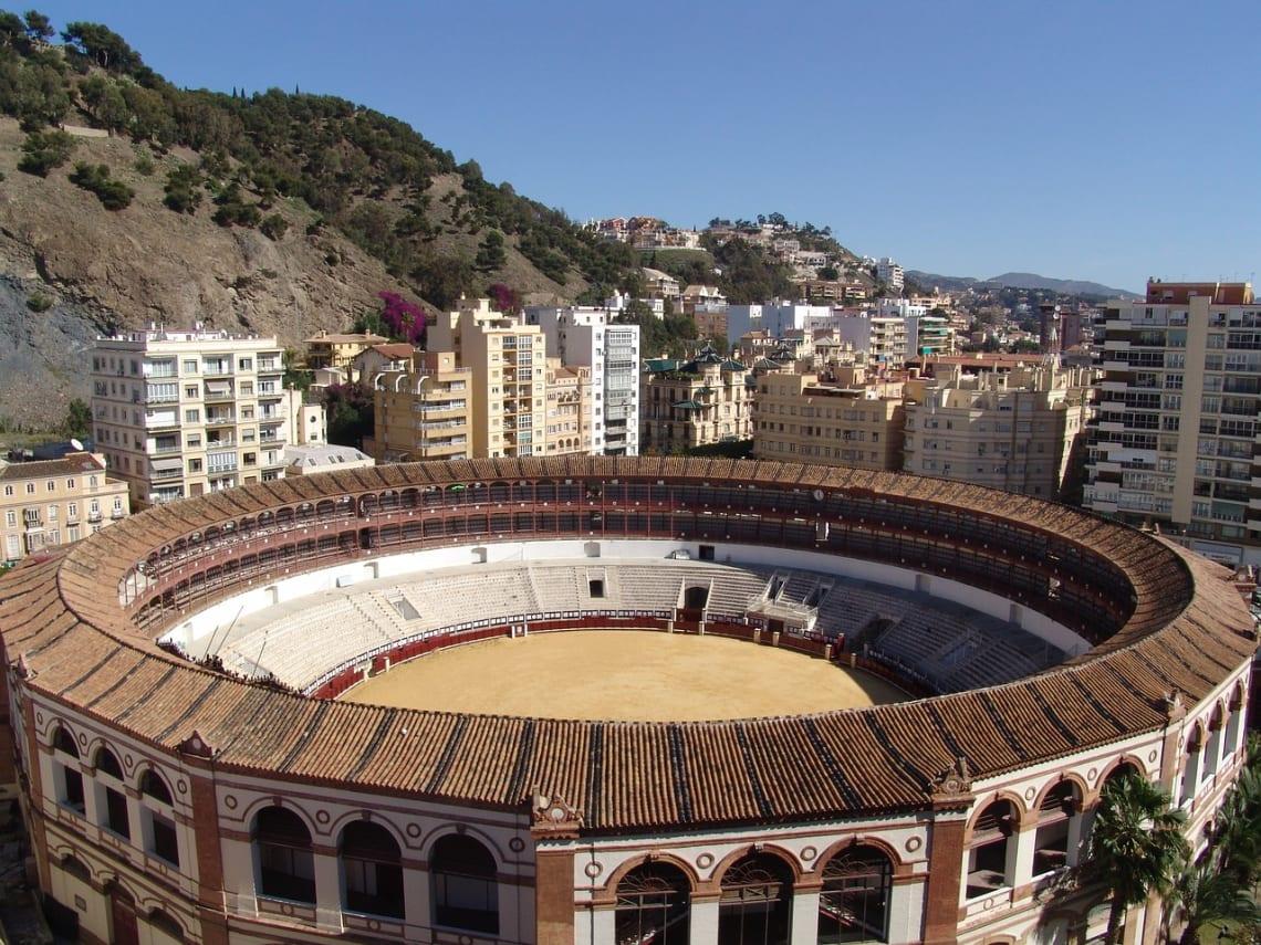 Praça de touros Málaga no sul da Espanha