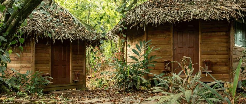 Jungle huts in Panama, Central America