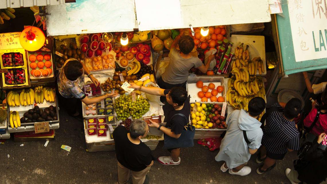 Local market, Hong Kong
