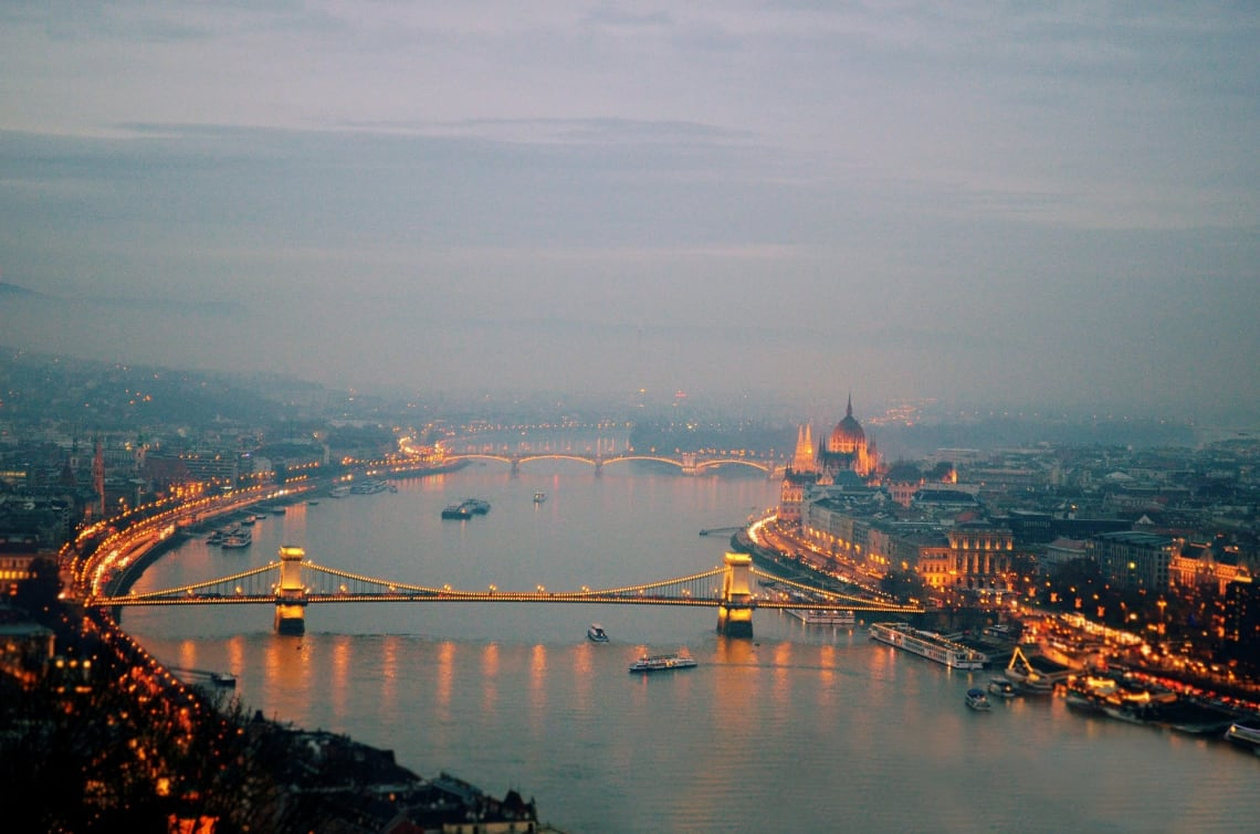 Budapest at night. Hungary.