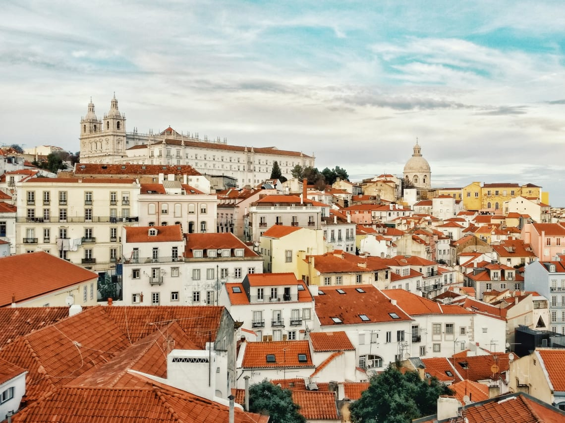 Rooftops of Lisbon, Portugal.