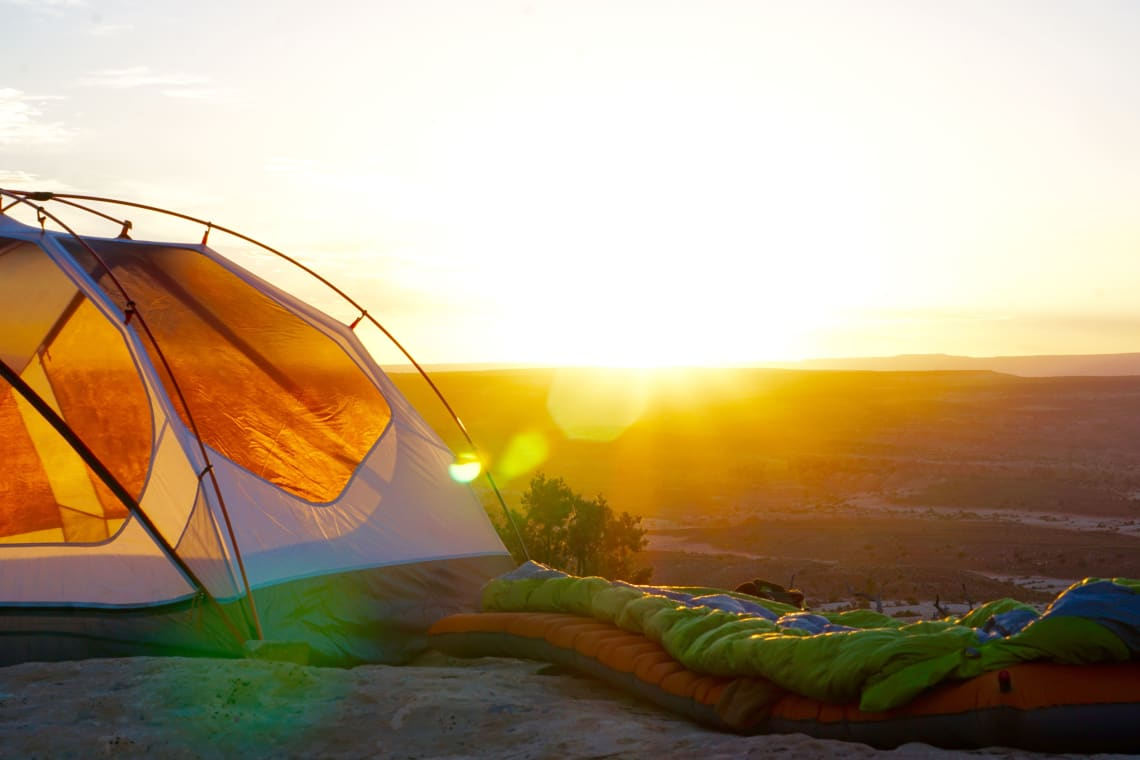 Camping in Arches National Park, USA