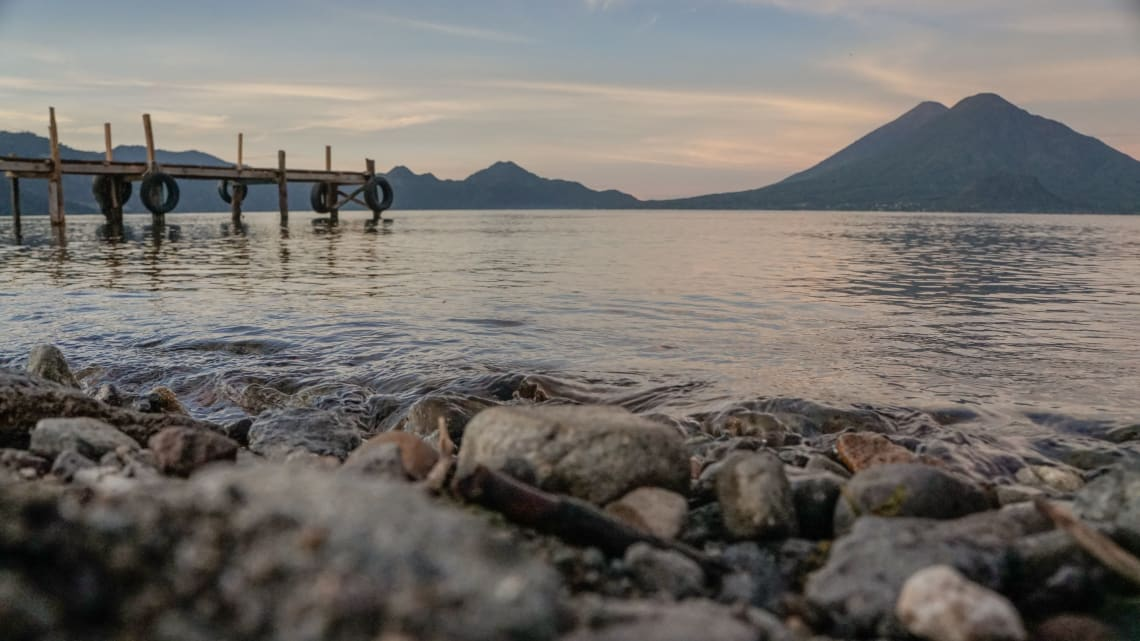 Top things to do in Lake Atitlan: watch the sunrise or sunset over the lake
