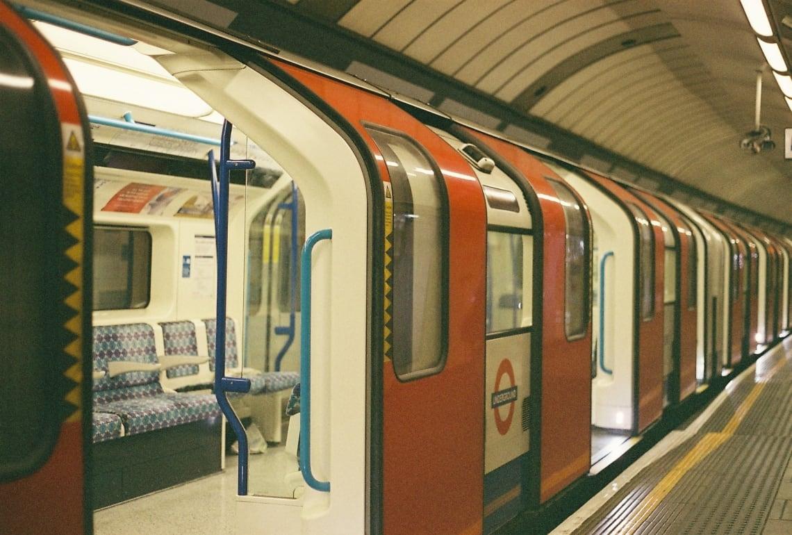Empty London tube