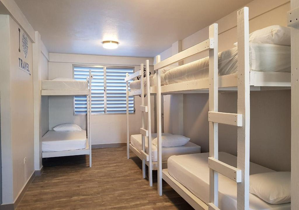 Imagem de um quarto de hostel, a acomodação é um dos principais gastos de viagem