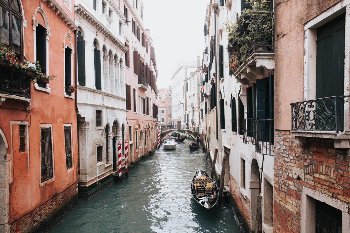 Quiet canal, Venice, Italy, Europe