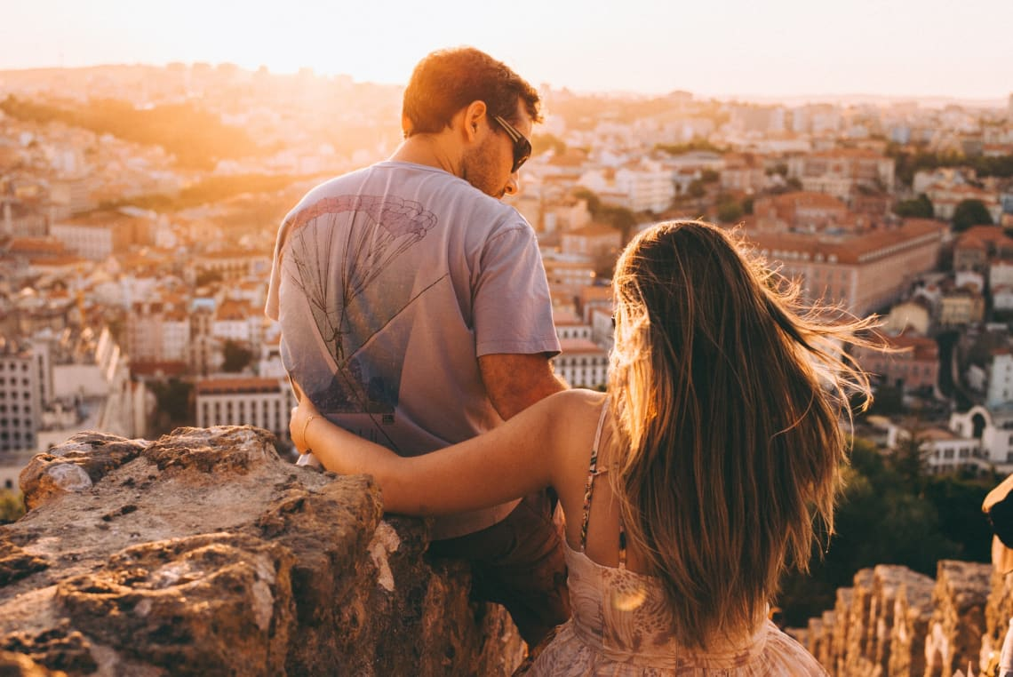 Couple, Lisbon, Portugal