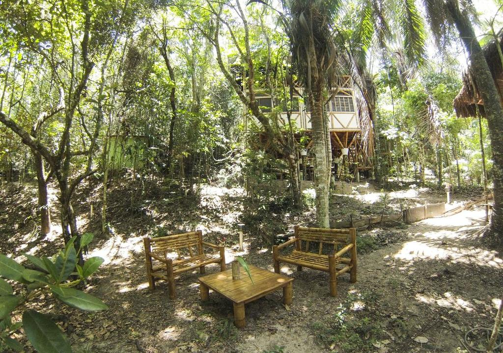 área exterior del Pol Bamboo Hostel