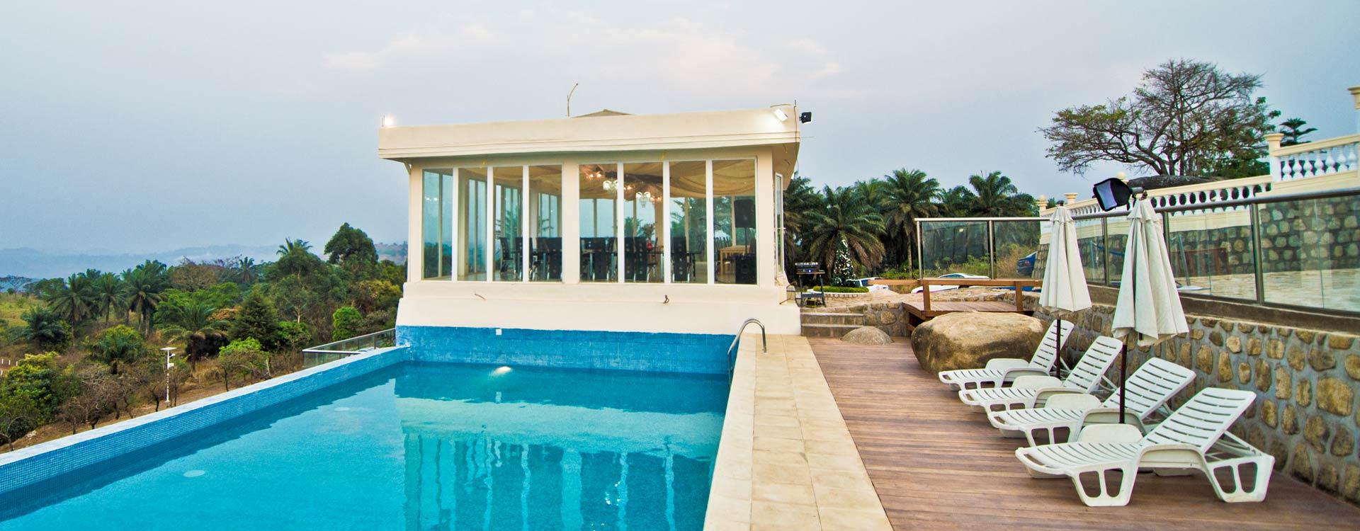 Saddle Hill Ranch & Resort in Bamenda Cameroon - Infinity Pool