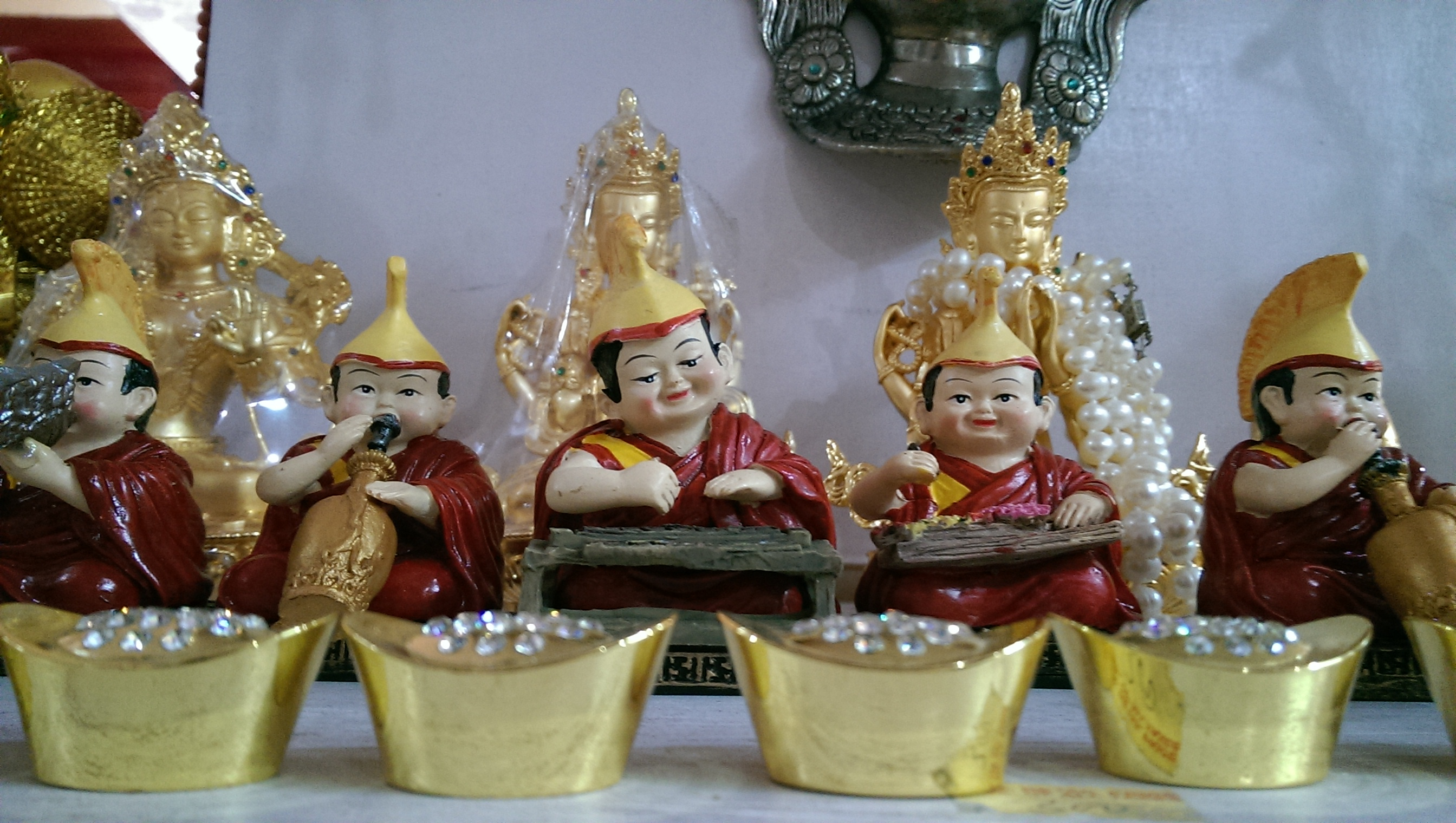 Monk dolls at Thiksey Monastery shop
