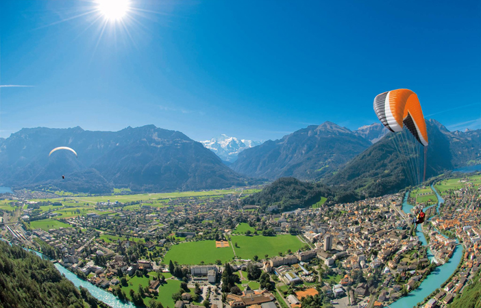 Flying high in Interlaken