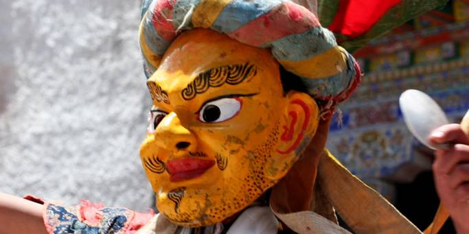 The Monkey year festival at Hemis