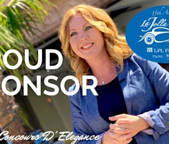 Amber Anderson | Proud Sponsor of 2019 La Jolla Concours D' Elegance | Save The Date