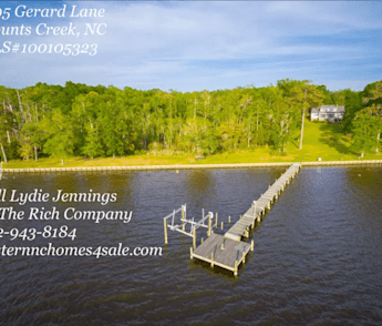 Waterfront Home on Over 5 Acres in Eastern NC