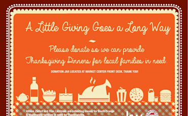 THANKSGIVING DINNERS FOR NEEDY LOCAL FAMILIES