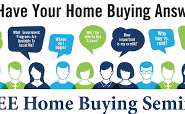FREE Home Buying Seminar, January 11 From 6 – 8 PM