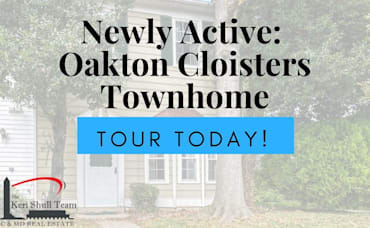 Newly Active: 3 Bedroom Townhome in Oakton Cloisters!
