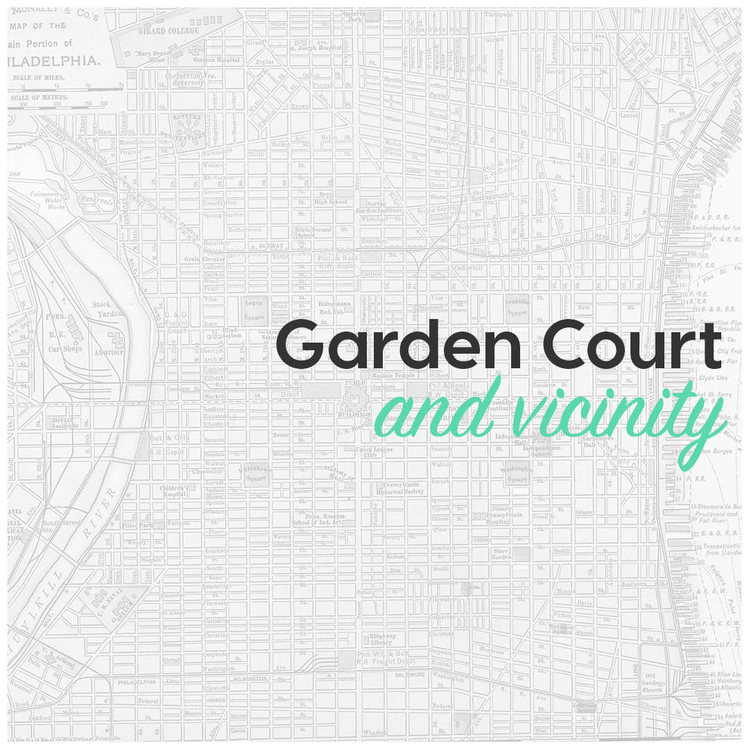 Garden court and vicinity