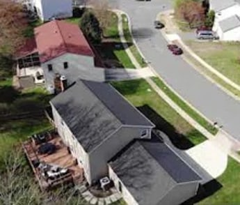 Rushbrook Dr drone asteriod shot